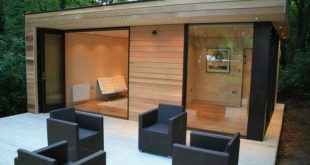 In.It.Studios' Prefab Garden House is a Modern Small Space Tucked Away In The Forest