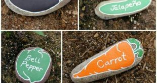 PAINTED ROCK GARDEN MARKERS....love this idea using the shapes of the rocks & it...