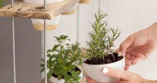 Custom Hanging Herb Garden DIY # custom #hanging # herb garden