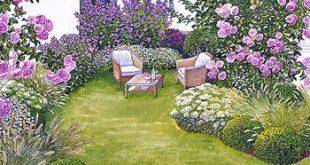 Sitzplatz im Blütenmeer
