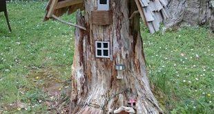 Sculpture de jardin maison de Gnome