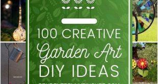100 kreative DIY Garten-Kunst-Ideen