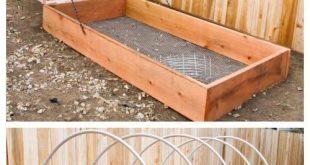 DIY überdachte Gewächshaus angehoben Garten Bett Tutorial
