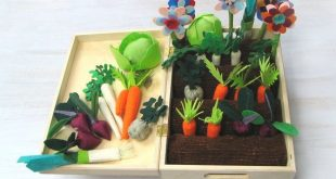 Felt Vegetable Garden Play Set, Spring Gift, For Autism, Realistic Toy, Imaginative Garden, Pretend Veggies For Kids, Educational Toy