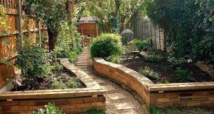 Hinterhof hob Gartennetz Garten- und Gartenprojektideen auf