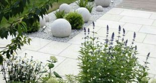 Modern white garden