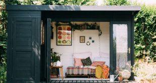 Une cabane de jardin d'inspiration bohème-vintage