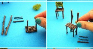 Wie man ein Neonterrarium mit Zweig Fairy Table und Stühlen DIY / Indoor Gar .....